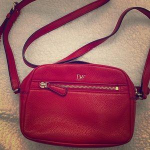 DV Red Leather Crossbody Bag Mini